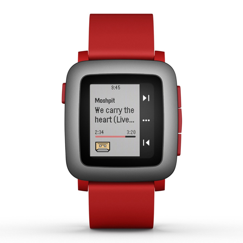 Pebble Time Smartwatch rot