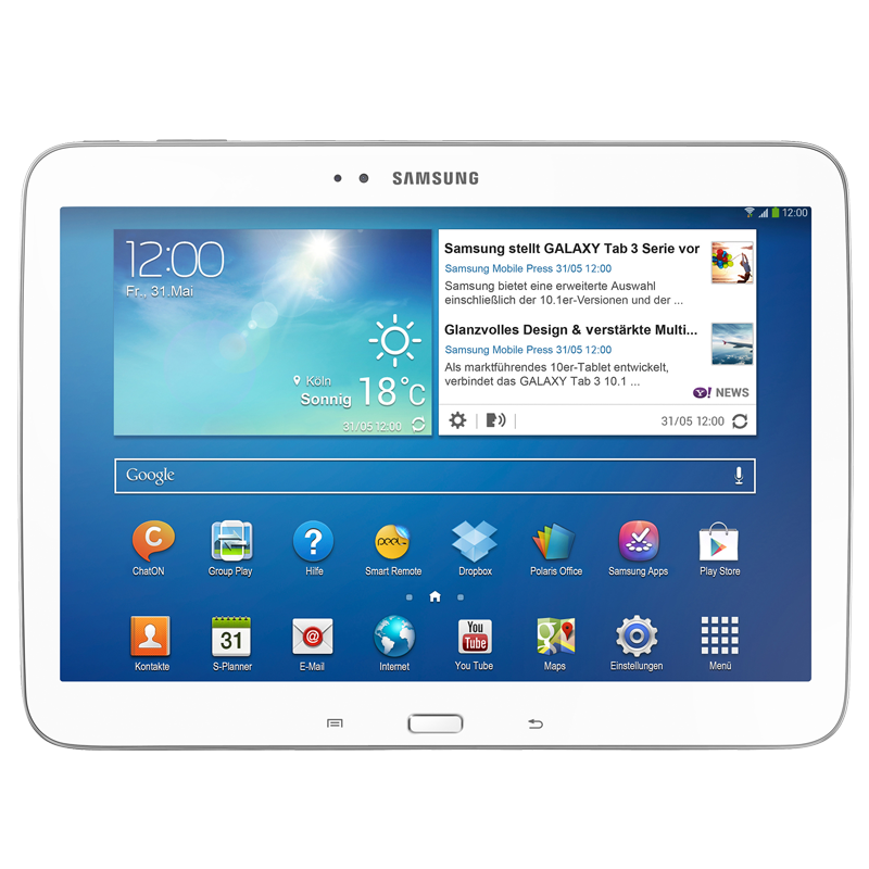 Samsung-Galaxy-Tab3-white-10-1-Zoll-WiFi-16GB-Tablet-PC-P5210-NEU