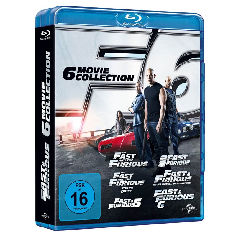 fast and the furious 6 movie collection bluray fsk ab 16. Black Bedroom Furniture Sets. Home Design Ideas