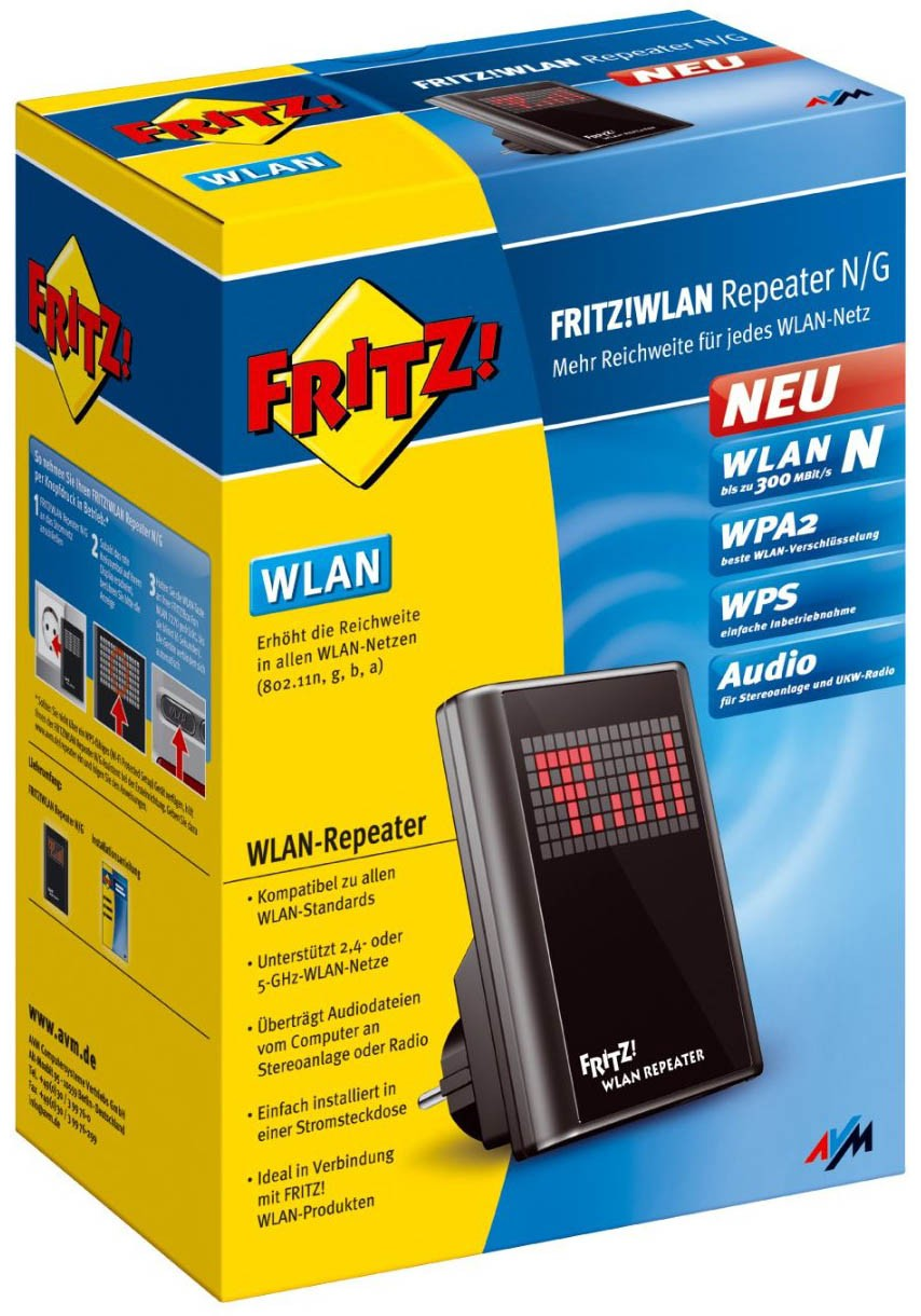 avm fritz wlan repeater. Black Bedroom Furniture Sets. Home Design Ideas